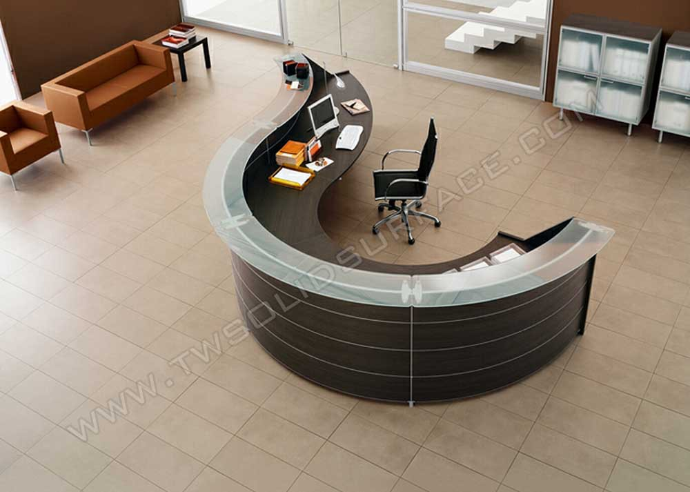 Quartz Stone Reception Desk : Hair salon reception cashier desks quartz stone curved