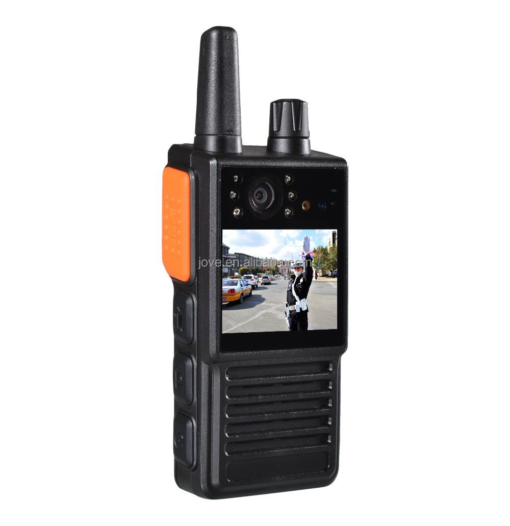 Protable police intercom radio body worn DVR camera