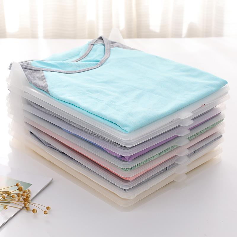 Fold garment board Magic plastic clothes fold board,10pcs home clothes folder T-shirt polo adult clothing organization folding, White;grey;transparent