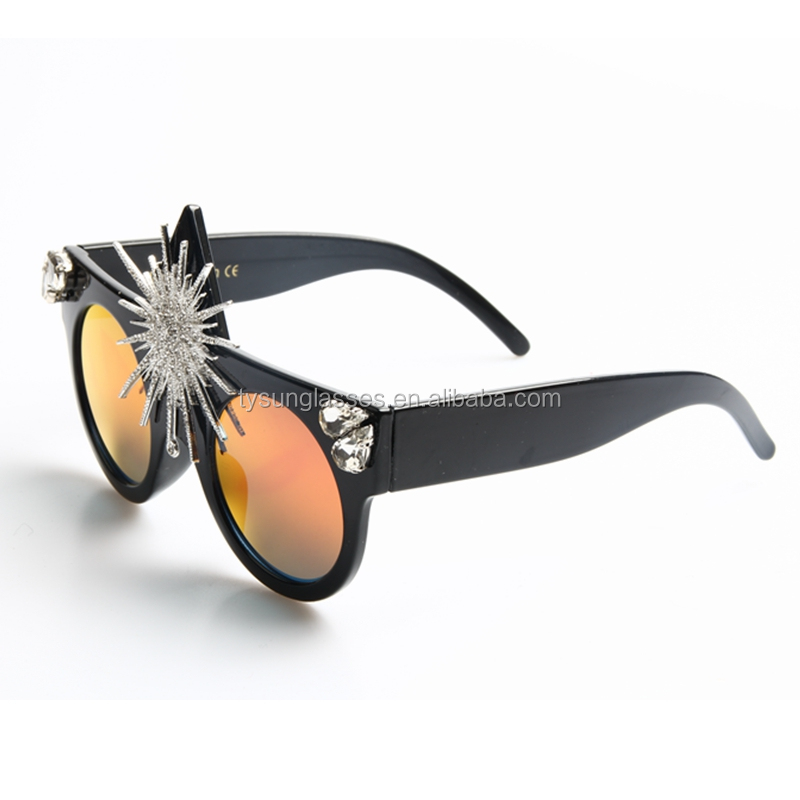fe90e423260 Two - color Ocean Piece New Sunflower Sunglasses High - end Qualities Party  Role - Playing
