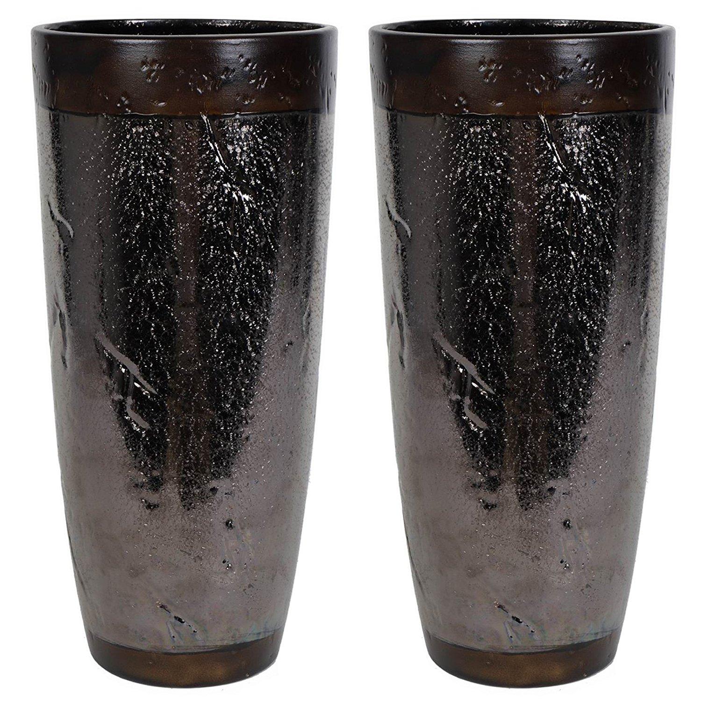 Cheap large black vases for sale find large black vases for sale hosleys set of 2 black ceramic vases 12 high ideal for floral arrangements reviewsmspy