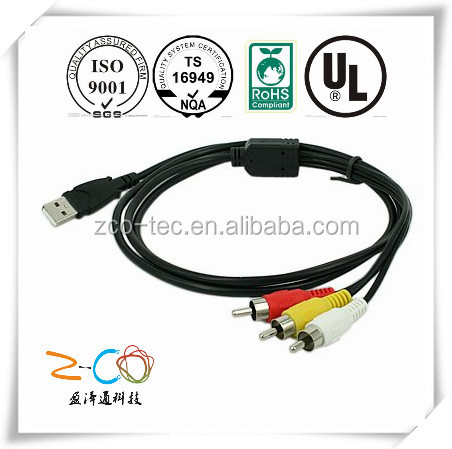 short leas time micro usb to rca cable factory