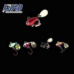 FJORD NEW PRODUCT 6g 9g lead micro jig heads fishing ice jigging lure with VMC hook