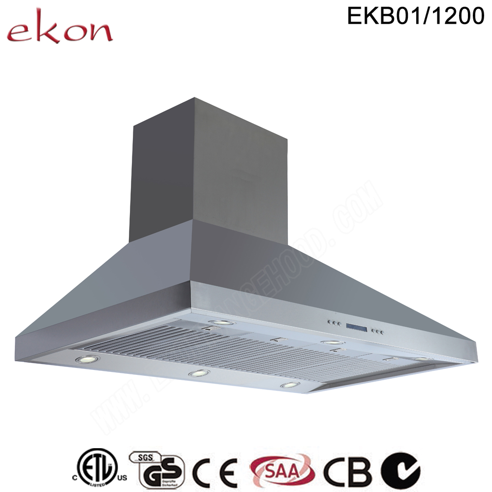 Saa Ce Gs Roved 120cm Wall Mount Customized Made Stainless Steel Commercial Bbq Range Hood