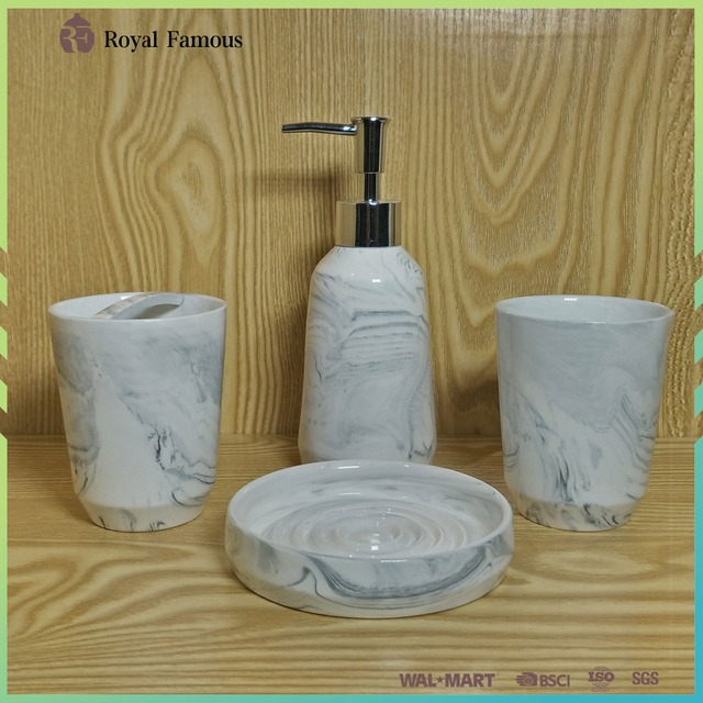 Fashional Double Clay Ceramic Bathroom Accessories Sets
