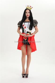 f8e9a7ee4 Copyright Walson instyles Sexy Rainha de Copas de Alice No País Das  Maravilhas Fantasia Vestido Vermelho