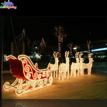 Led Reindeer Sleigh With