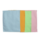 200gsm 10*10cm cleaning cloths microfiber suede phone cleaning cloth LCD screens camera lenses glasses cleaning cloth