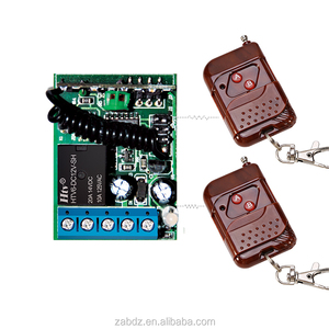 DC 12V 24V 1 CH 1CH RF Wireless Remote Control Switch System,315/433 MHZ 3X Transmitter + Receiver,Latched (A=ON B=OFF)