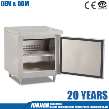 Commercial stainless steel refrigerated salad chiller bar cabinet / glass top cabinet for salad