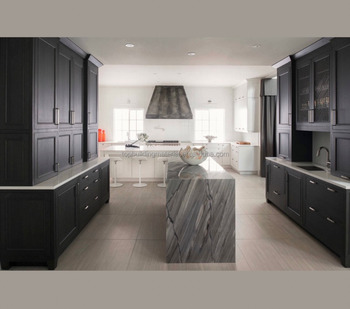 Customized contemporary black kitchen