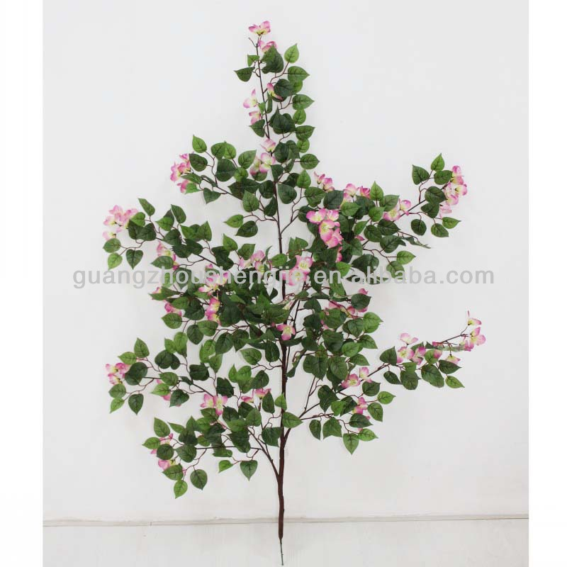 Sleek realistic decorative artificial bougainvillea leaves branch for wholesale with happy price
