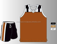 Brown and Black Sublimation customize designs Basketball Uniform in all sizes and competitive prices
