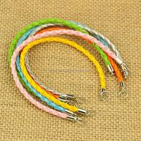 Bracelet Making Supplies Braided PU Leather Bracelet Raw Materials(AJEW-JB00022)