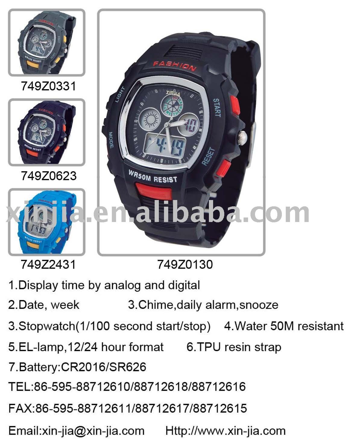 Analog-digital Watch Xj-749