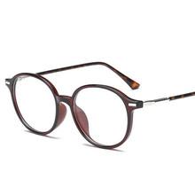 TR90 прозрачные зеркальные овальные очки для близорукости, женские леопардовые оправы, 1,56 асферические линзы, близорукие очки по рецепту 0 ~-4,0(Китай)