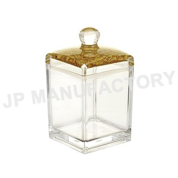 Luxury Quality Shinning Clear Food Storage Square Acrylic Container