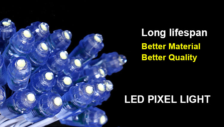 9 Mm Pixel Node Digital 5 V 12 V Tunggal Warna LED Pixel 12 Mm Ws2811 UCS 1903 IC Programmable penuh Warna Pixel LED Module
