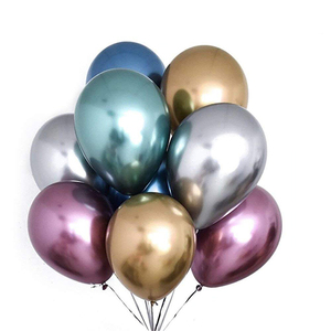 12 inch Air metallic latex chrome balloons for birthday party decoration
