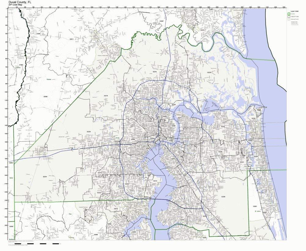 Buy Broward County Florida Fl Zip Code Map Not Laminated In Cheap