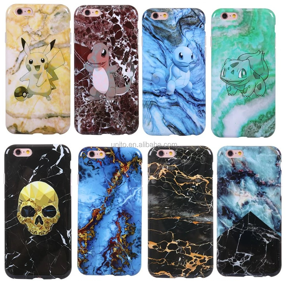 Hot ! Cases For iPhone 6 Case Marble Stone image Painted Cover For iphone 7 6S TPU Marble Phone Case