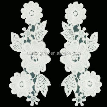 100 Cotton Crochet Flower Applique For Decoration Buy Crochet