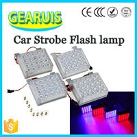 Energy Saving!!! Auto Car Strobe Flash Emergency Warning Light Red to Blue Police Vehicle LED Visor 12V Universal