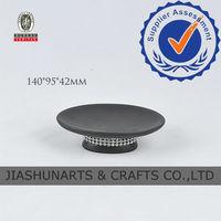 Black Matt Acrylic Diamond Ceramic Soap Dishes