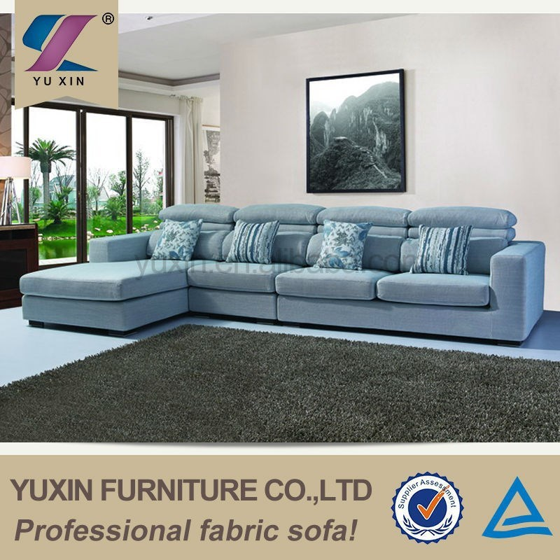 Desain perabotan modern turkish gaya kain sofa furniture, furniture l-berbentuk sofa