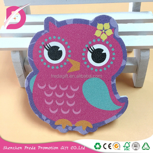 Wholesale manufacturer animal colorful owl shaped customized rough nail file