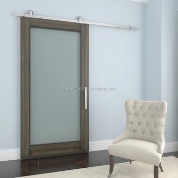 Glazed Sliding Painted Barn Door For Hilton Garden Inn Wichita Bathroom And  Closet