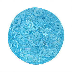 wholesale Melamine turkish 10 inch sky blue ceramic plastic embossed decorative dinner charger plates