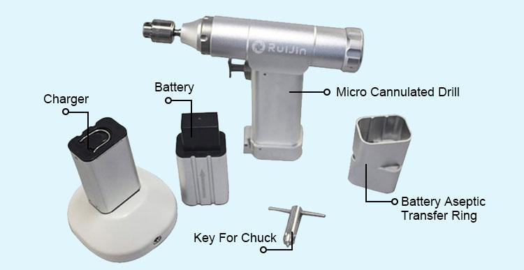 Ruijin Medical Instruments Orthopedic Power tools bone drill veterinary canulated drill