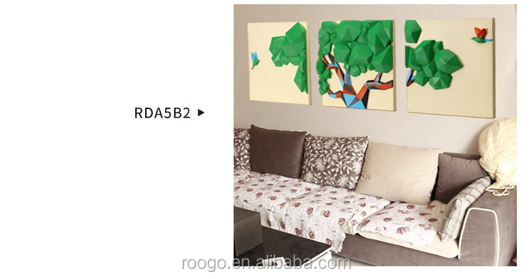 2016 hot sale 3D creative wall decoration resin happy tree wall hanging