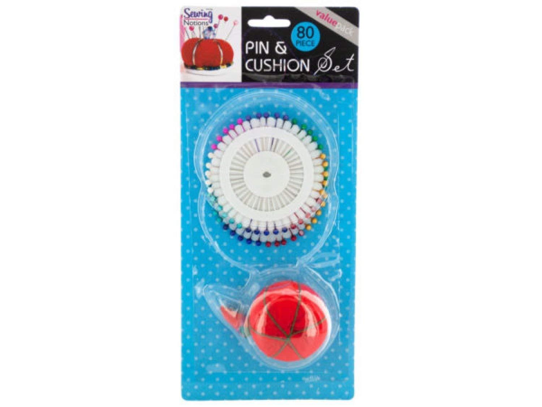 STERLING Pins & Cushion Set - Set of 24, [Sewing & Needlecrafts, Pins & Pin Cushions]
