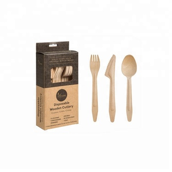 2020 Eco Friendly Disposable Wooden Bamboo Cutlery,Disposable Wooden Cutlery Set