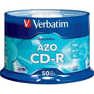 "Verbatim America, Llc - Verbatim Datalifeplus 94523 Cd Recordable Media - Cd-R - 52X - 700 Mb - 50 Pack Spindle - 1.33 Hour Maximum Recording Time ""Product Category: Storage Media/Optical Media"""