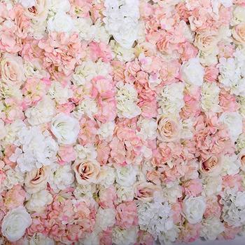 Wholesale Artificial Fabric Wedding Flower Wall Wedding