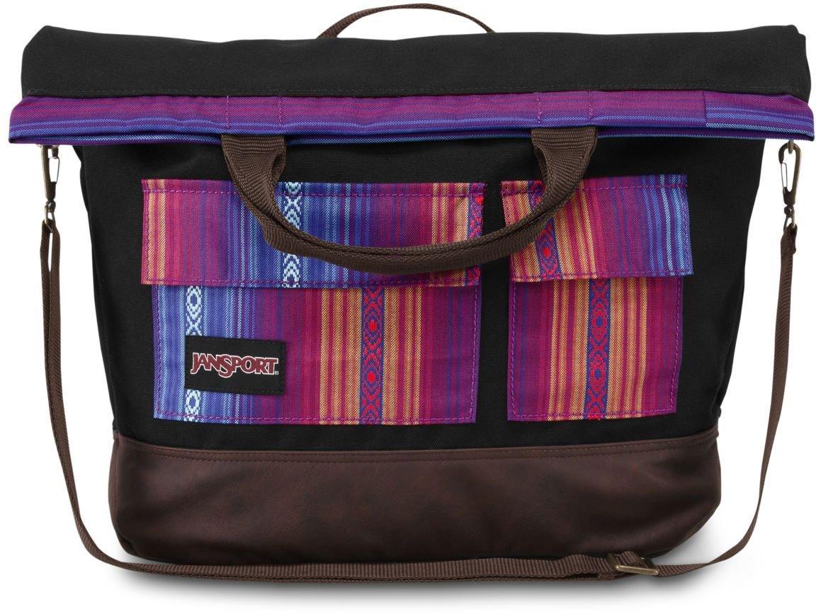 Get Quotations Jansport Broderick 15 Laptop Tote Bag Purple Acapulco Ombre Stripe 17 3