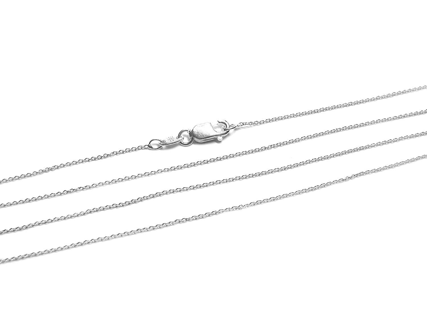 925 Sterling Silver Cable Chain 0.75mm Italian Necklace Chain by BEEZZY BEEDZ (30in)