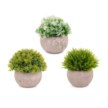 Set di 3 piante bonsai commercio all'ingrosso piccolo artificiale decor plastica bonsai mini piante artificiali piante pianta bonsai naturale per la vendita
