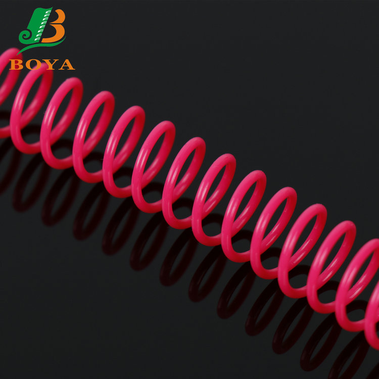 Colored Wire For Spiral Notebook & Book Round Style PVC Plastic Binding Comb