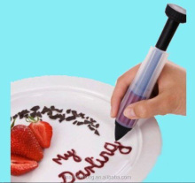 Silicone Cake Cookie Pastry Icing Decorating Pen Syringe Cream Chocolate Plate Pen