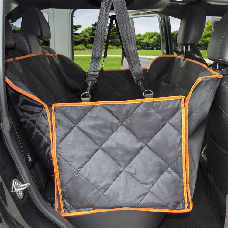 Universal Heavy Duty Waterproof Pet Dog Car Seat Cover Hammock with Mesh Window and Pockets