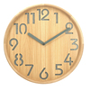 custom logo round shape 12 inch silent laser carved numbers pine wood silent wooden wall clock