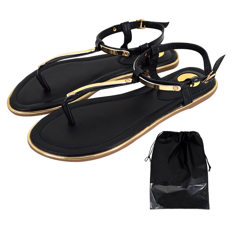 f3a22f11076a96 Get Quotations · Women T-Strap Glitter Flip Flops Sandals Summer Beach Thong  Flat Sandals Dress Sandals Shoes