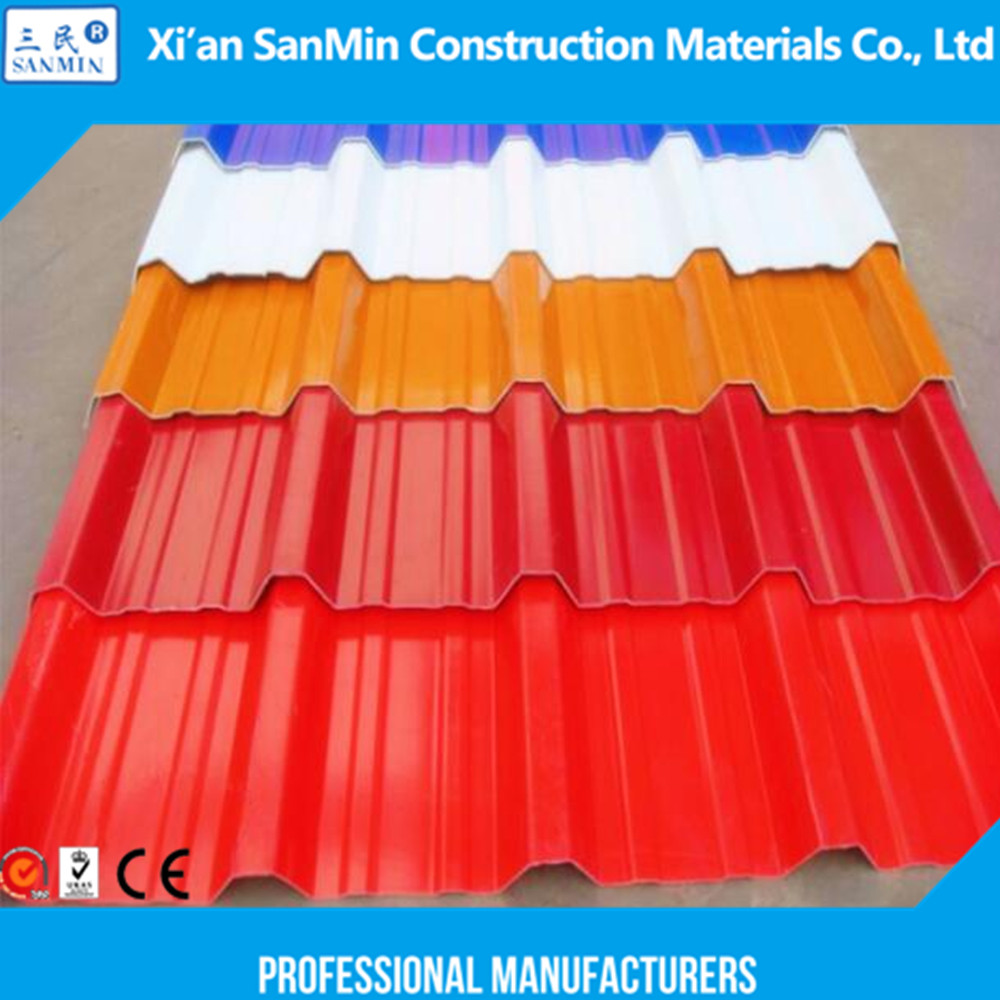 Fire Resistance and Waterproof Single Layer PVC Corrugated Roofing Sheets Type 960/Roof Panels Plastic for Greenhouse