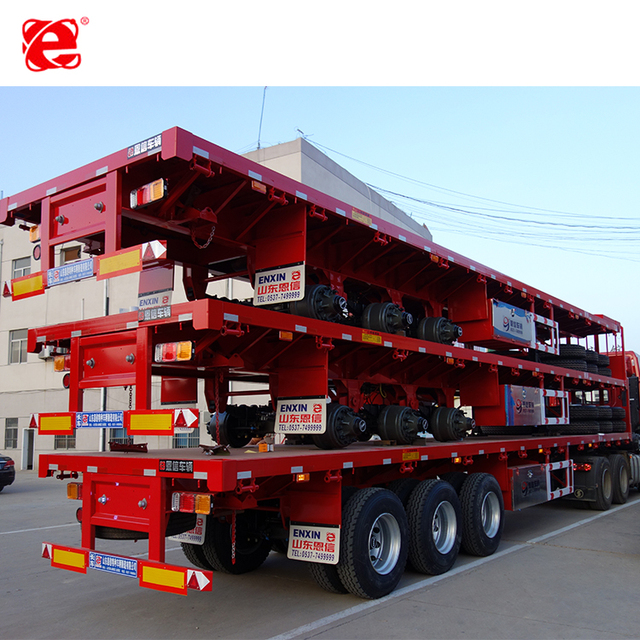 Reliable After-sales Service 4 Axles 40Ft Flatbed Semi-Trailer Container Trailer Trucks Flatbed Trailer