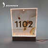 Custom metal 3d illuminated hotel house room numbers and logo