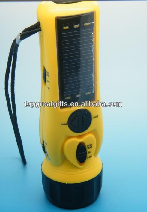 Urgence dynamo solaire batterie manivelle lampe de poche - Lampe de poche a manivelle ...